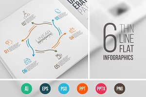 Line flat elements for infographic_8