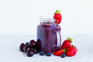 Fresh smoothy berry drink