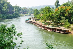 Kwai Noi river in Thailand