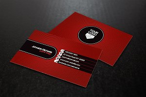 Concentric Circles Business Card