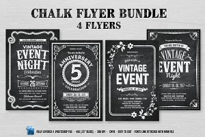 4 Chalk Flyers Bundle