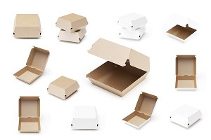 12 Hamburger Box Renders