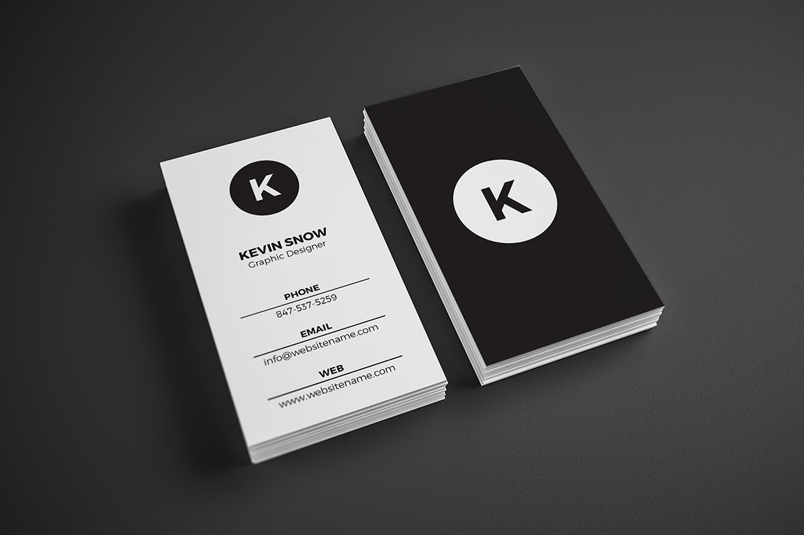 Simple Minimal Business Card ~ Business Card Templates ~ Creative Market