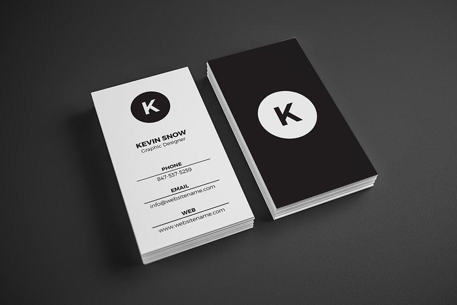 Simple Minimal Business Card - Business Card Templates   Creative ...