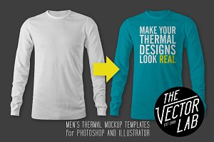Men's Thermal Mockup Templates