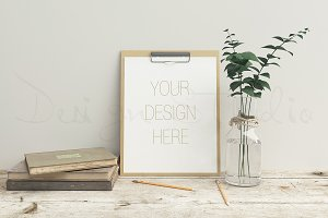Stationery mockup, smart object PSD