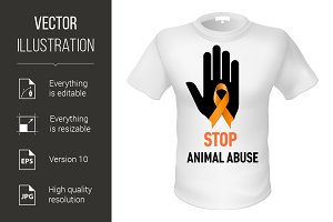 T-shirt animal abuse