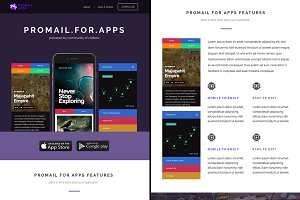 Promail-Apps, E-mail Template PSD