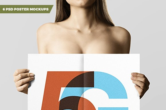 Download 6 PSD Poster Mockups