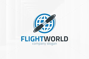 Flight World Logo Template