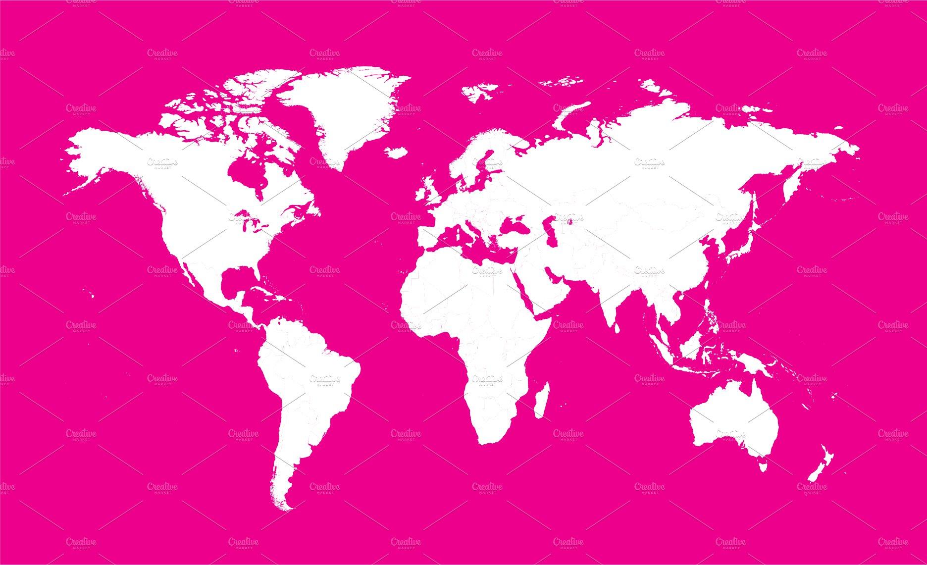 World map pink color web elements creative market gumiabroncs Choice Image