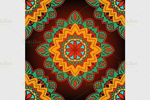 Oriental colorful ornament