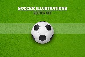 Soccer illustrations.