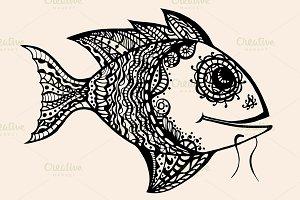 ornamental graphic fish