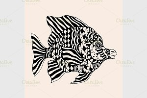 ornamental graphic fish