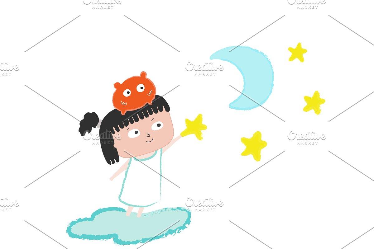 Girl in the stars