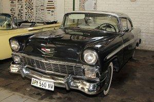Black 1956 Chevrolet Hardtop Coupe