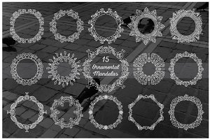 15 Vector Ornamental Mandalas
