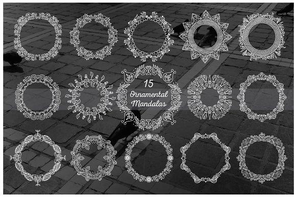 15 Vector Ornamental Mandalas