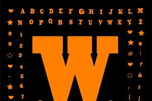 Creative fun font orange