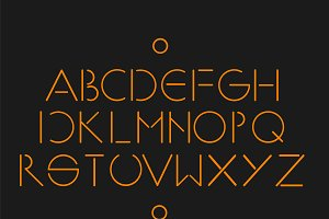 MInimalistic and simple font orange