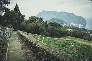 Walking on Capri Island