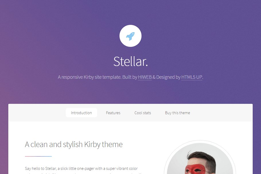 Stellar  One page theme for Kirby ~ Landing Page Templates