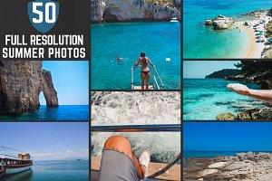 50 Hi-Res Summer Photos Bundle