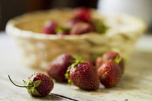 Ripe red strawberries