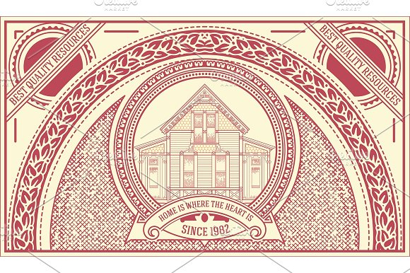 Vintage Label set in Illustrations - product preview 1