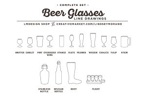 Beer / Brewery Icons, Illustrations