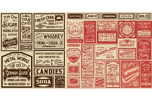 Mega set of old advertisements