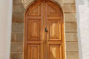 Iconic mansion door in the village