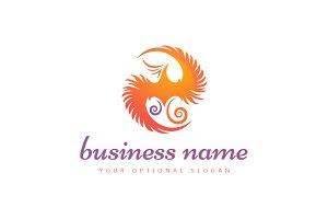 Yin & Yang Phoenix Logo