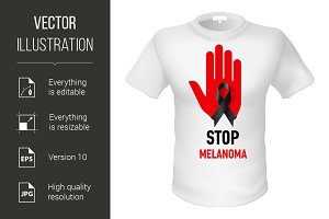 T-shirt stop melanoma