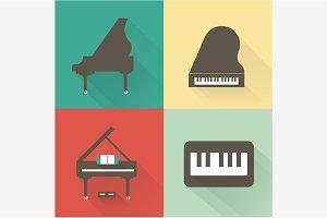 Vector Piano icons