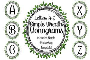 Simple Wreath Monograms