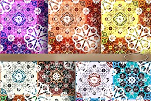 5 Seamless lace abstract pattern.