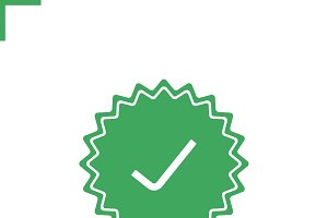 Approved sticker icon. Vector