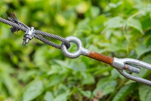 Wire rope clip and turnbuckle