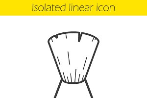 Shaving brush linear icon. Vector