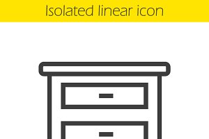 Nightstand linear icon. Vector