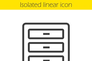 Dresser linear icon. Vector