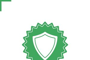 Shield sticker icon. Vector