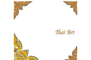 Vector Thai art frame
