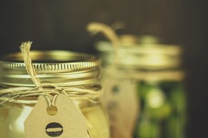 Pickled Onions in Mason Jar
