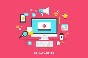"Illustration ""Digital marketing"""