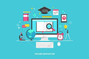 "Illustration ""Online education"""