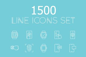 1500 vector line icons pack!