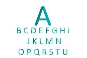 Flat font blue color